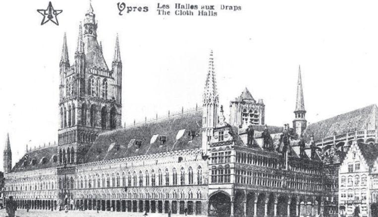 Deze foto toont de hallen net voor de oorlog.