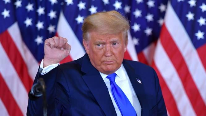 President Trump schreeuwt het op Twitter uit dat hij gaat winnen