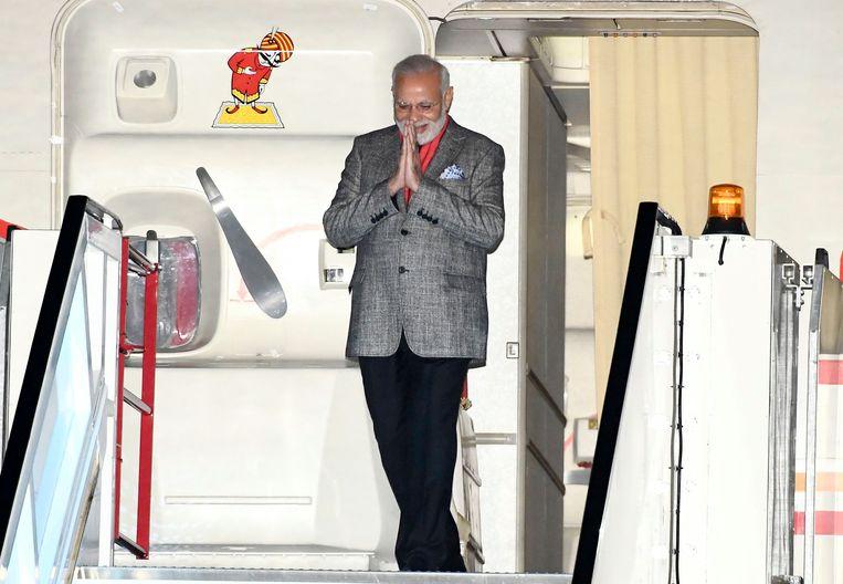 India's Prime Minister Narendra Modi arrives at Arlanda Airport in Stockholm, Sweden, on April 16, 2018.  Beeld AFP