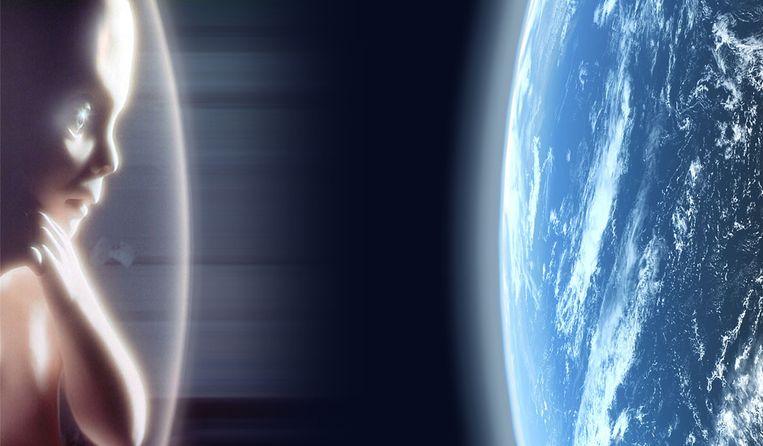 Scène met embryo Beeld A Space Odyssey