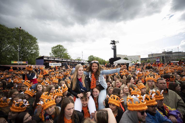 538 Koningsdag in Breda,  2019. Nationale en internationale artiesten vieren samen met de 538-dj's de verjaardag van koning Willem-Alexander.  Beeld ANP Kippa