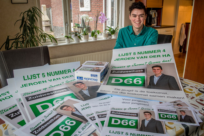 18-jarige havist Jeroen van der Ha wil gemeenteraad in