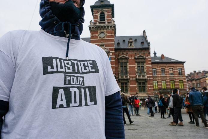 Protest voor Adil. (archiefbeeld)