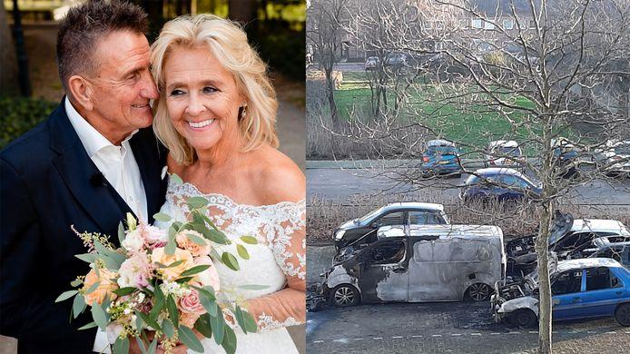 Freddy en Sylvia deden mee aan Married At First Sight (links). En auto's brandden uit in Nijmegen (rechts).