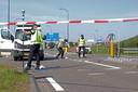 Op de kruising van de Taxandriaweg-West met de Kruisstraat in Waalwijk is woensdagochtend een fietser aangereden door een bestelbusje.