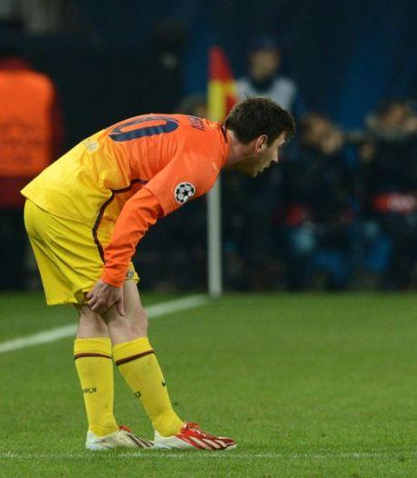 Messi boos en verdrietig om blessure