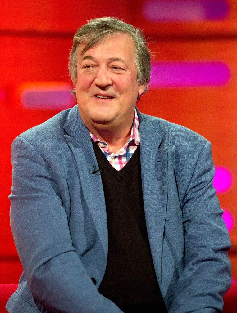 Stephen Fry: gelukkig schuwt hij in zijn boek alle preutsheid. Beeld Photo News
