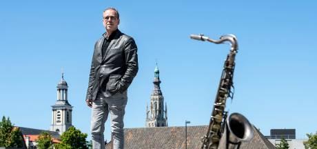 Saxofonist Antoine Trommelen mag soms even Mick Jagger spelen