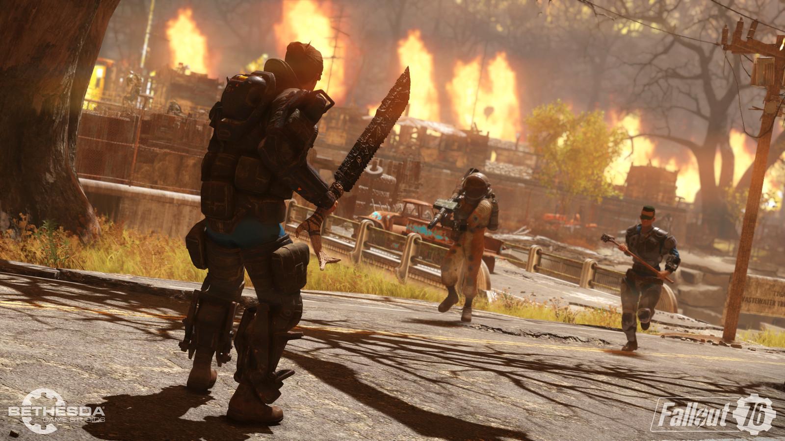 Beeld uit 'Nuclear Winter', de Battle Royale-modus van 'Fallout 76'.