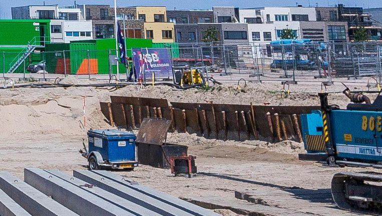 Bouwwerkzaamheden op het Zeeburgereiland in Oost Beeld Rink Hof