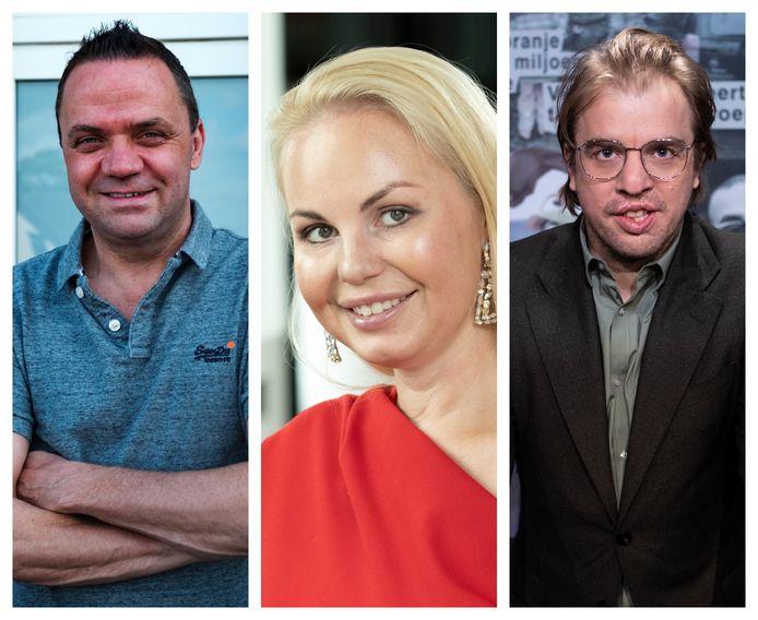 Steve Tielens, Lesley-Ann Poppe en Jan Jaap Van der Wal