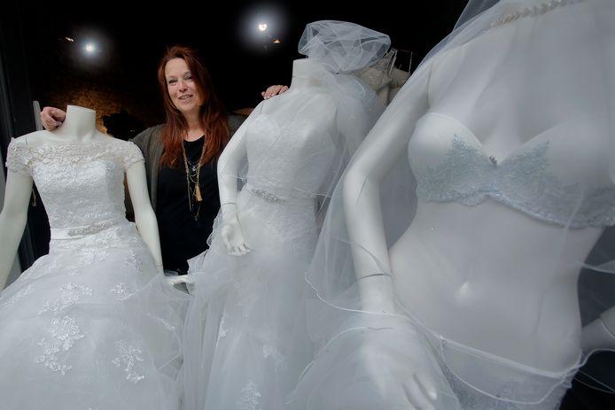 Ankie Visser opende dit jaar haar bruidsmodezaak op de Voorstraat.