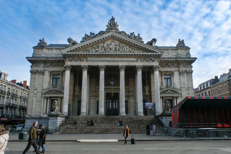 Het iconische beursgebouw.