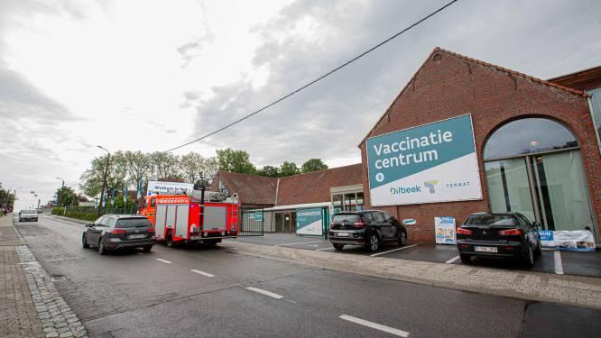 Vaccinatiecentrum van Dilbeek loopt onder water