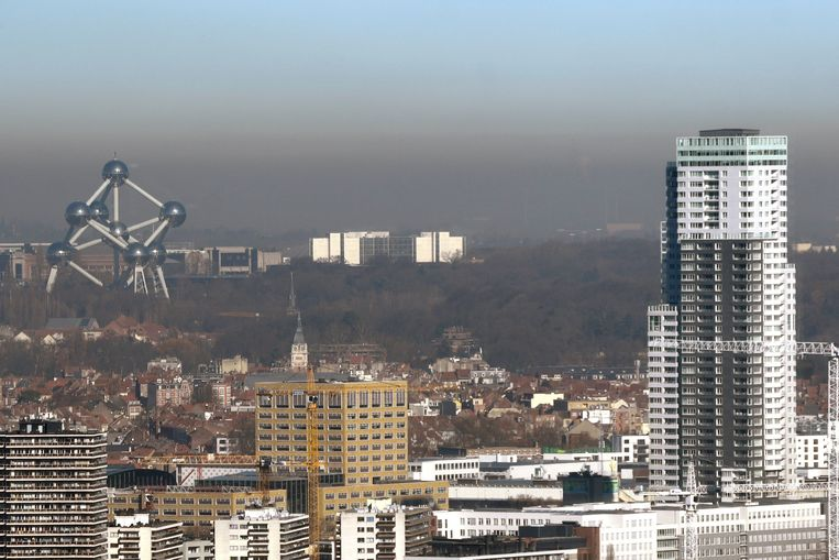 Luchtvervuiling in Brussel. Foto ter illustratie. Beeld Photo News