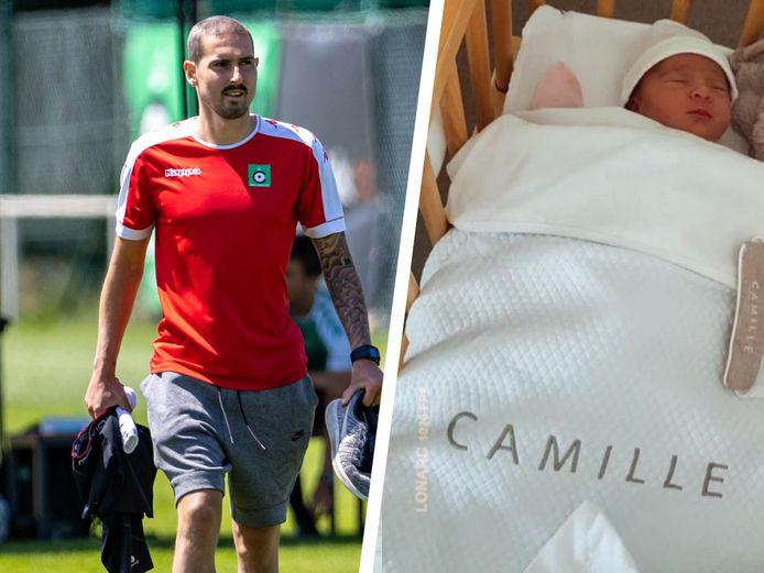Miguel Van Damme verwelkomde dochtertje Camille.