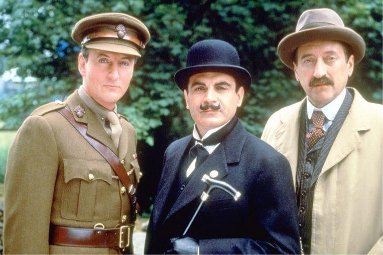 Op lange termijn geldt: boontje komt om zijn loontje. Ik ben in extreme gevallen dan ook niet tegen de doodstraf.' (Foto: uit de tv-serie 'Poirot'.) Beeld