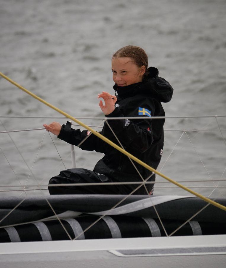 """Over Greta Thunberg: """"Voor mij hoeft ze helemaal niet met een zeilboot naar Amerika te varen. Wat hebben we aan haar als ze drie weken op zee zit?"""" Beeld Photo News"""