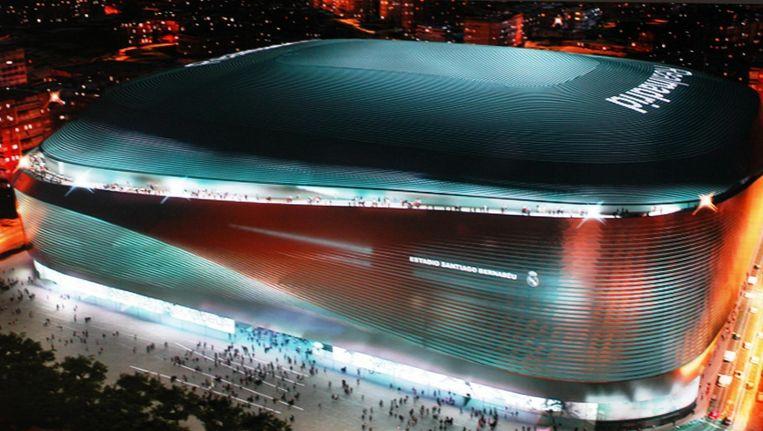Een impressie van het gerenoveerde stadion. Beeld getty
