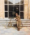 Miranda Arts uit Wijchen in 1986 tijdens haar opleiding bij de OCMA (Opleidingscentrum Militaire Administratie) in Middelburg.