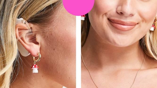 Modewinkel Asos toont model met hoorapparaat en krijgt bakken lof