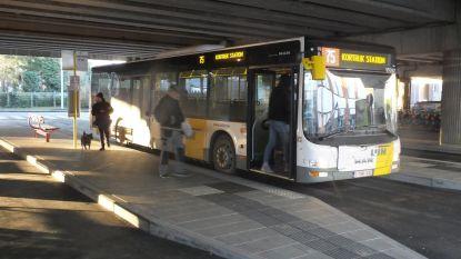 Weinig bussen aan Deinze-station
