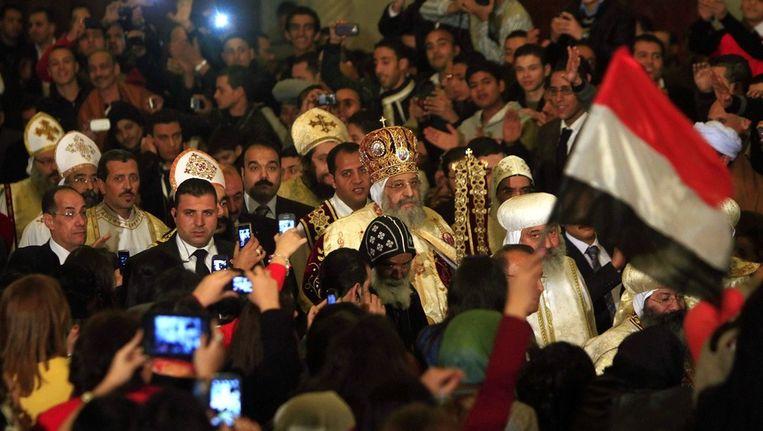 Orthodoxe kerstavond in Caïro. Beeld ap