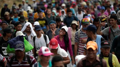 Duizenden migranten van de migrantenkaravaans hebben asiel aangevraagd in Mexico