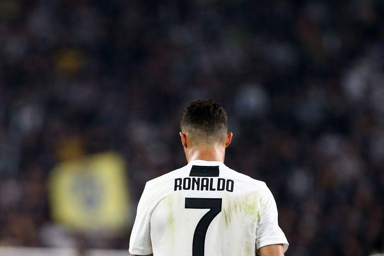 Cristiano Ronaldo van Juventus FC tijdens een wedstrijd tegen SSC Napoli in Turijn vorig weekend. Beeld Photo News