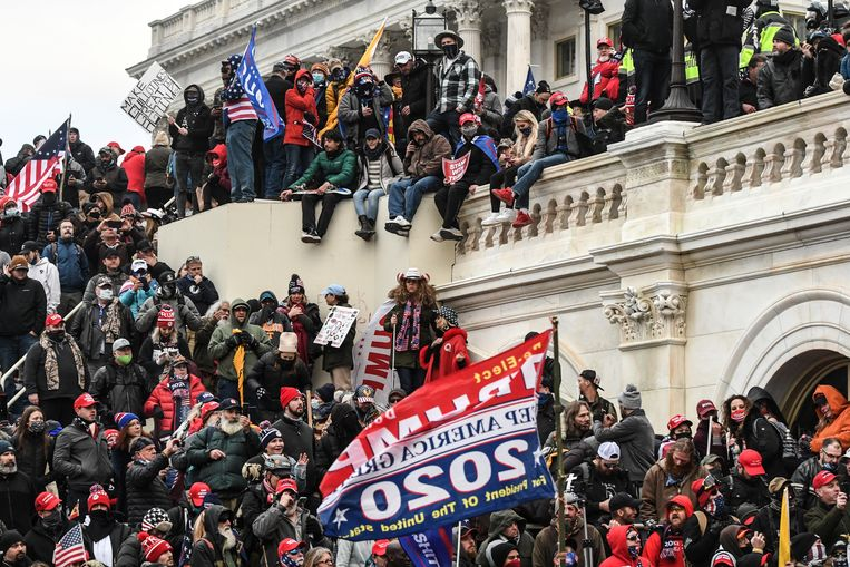 Capitoolbestorming in Washington. Beeld REUTERS