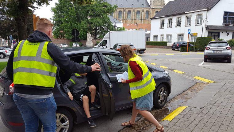 Ludieke actie van het oudercomité aan basisschool Prinsenhof.