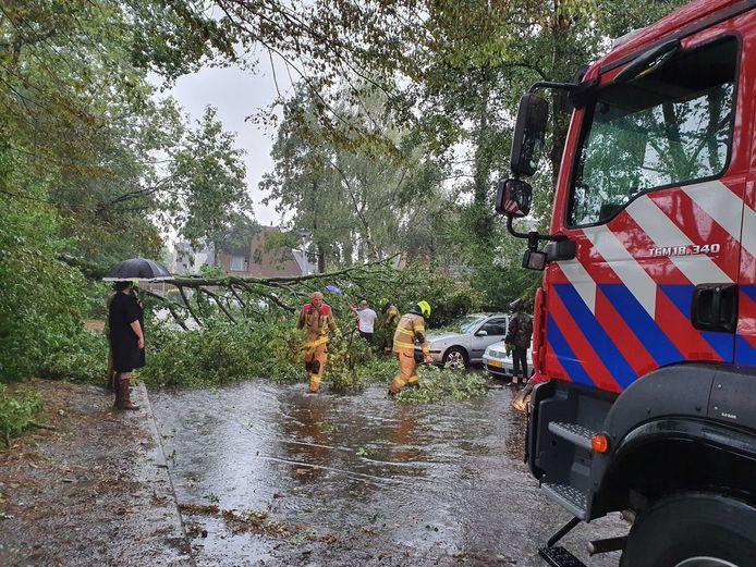 Overtrekkende onweersbuien zorgden in delen van het land voor wateroverlast.