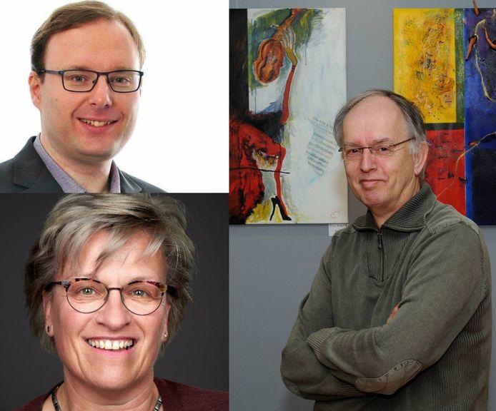 Opgestapte VVD'ers Joost Pals, Maarten van 't Hof en Rian Govers. Ze vormen nu de fractie Lokaal Realisme