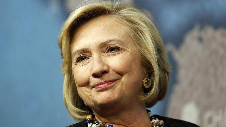 Hilary Clinton tijdens een bezoek aan Londen, vorige maand. Beeld reuters