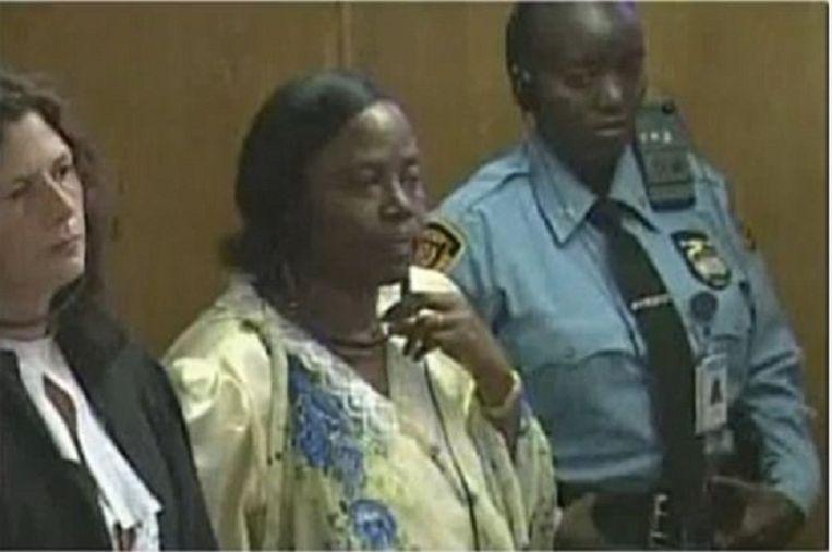 Pauline Nyiramasuhuko. Beeld Youtube