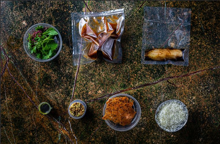 Thuis met Daalder: fine dining van chef Huwaë. Beeld Daalder