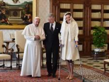 Philippe et Mathilde rencontrent le pape