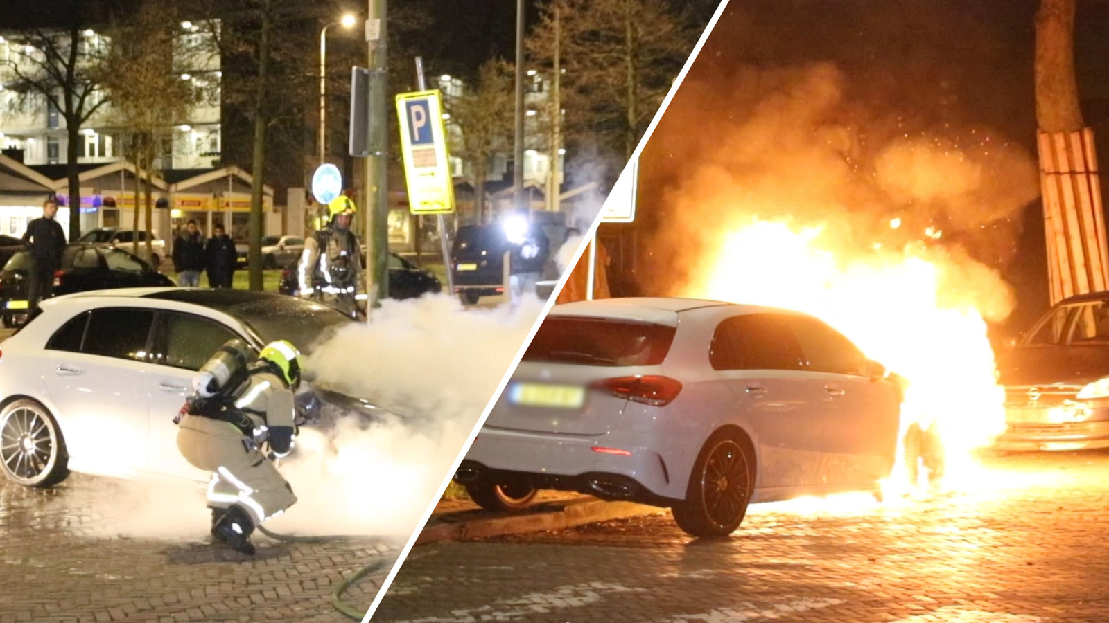 Auto uitgebrand.