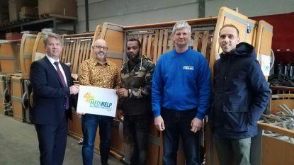 Weer een container met hulpgoederen vanuit Oostkamp naar Ghana