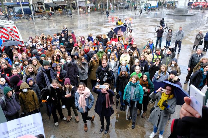 Vorige week donderdag verzamelden de Antwerpse scholieren op de Groenplaats