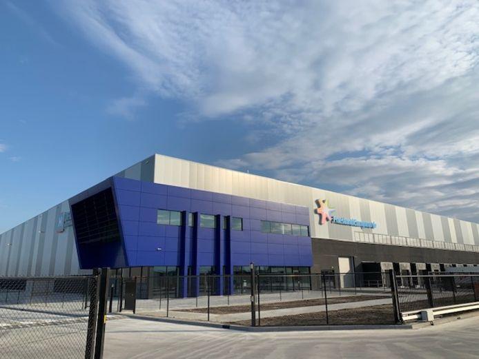 Het nieuwe distributiecentrum van FrieslandCampina in Veghel.
