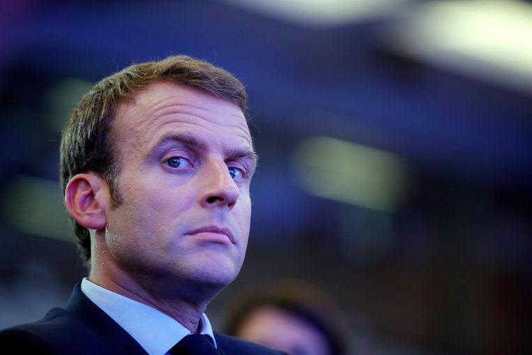 Frans president Emmanuel Macron. Beeld EPA