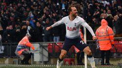 Eriksen verlost Tottenham, dat pas in ultieme slot de code van laagvlieger Burnley weet te kraken