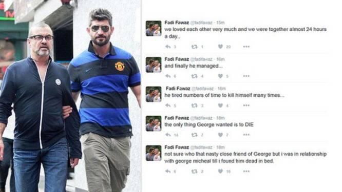 Twitter-account van George Michaels partner offline na berichten over zelfmoord als doodsoorzaak