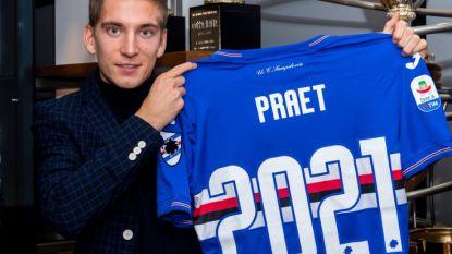 FT buitenland 29/11. Nu ook de bevestiging: Dennis Praet verlengt tot 2021 bij Sampdoria