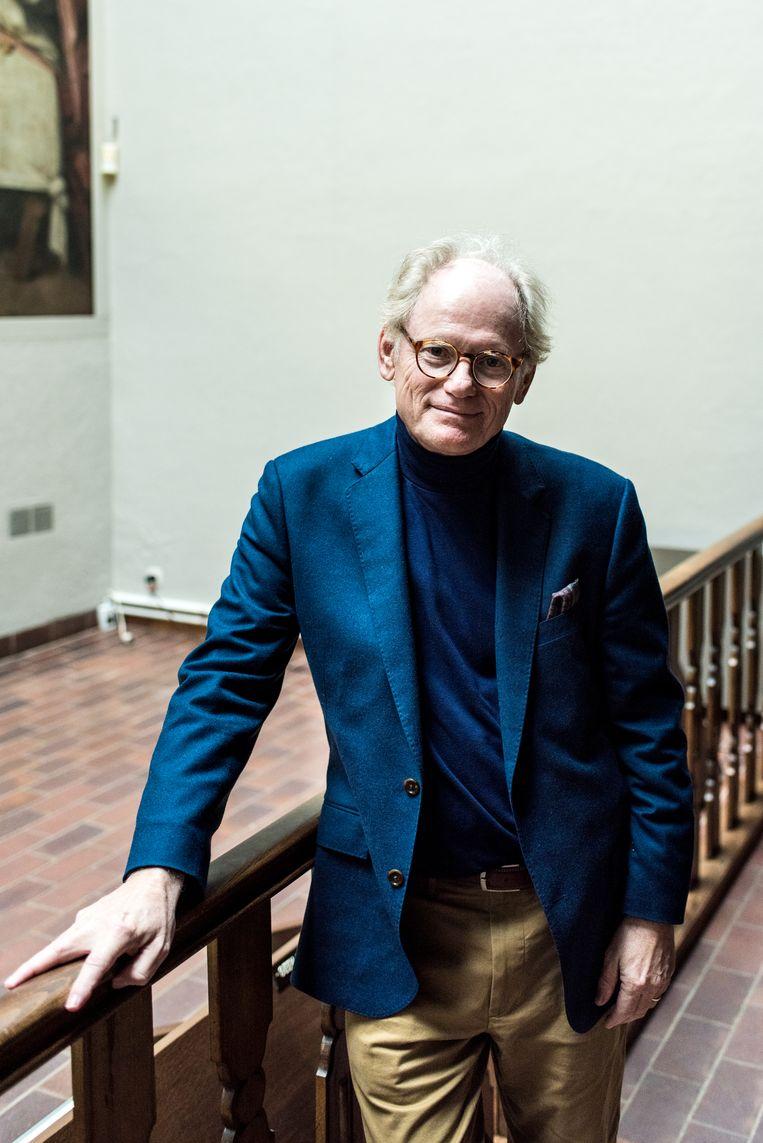 Kunsthistoricus Jean-Pierre Isbouts, die zijn hele carrière aan Da Vinci wijdde. Beeld Tine Schoemaker
