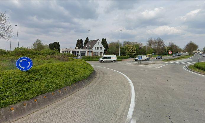 De rotonde aan de Bergensesteenweg.