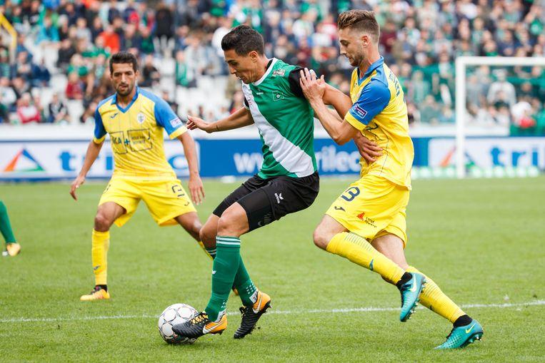 Aleksandar Sofranac in actie tegen Beerschot-Wilrijk.