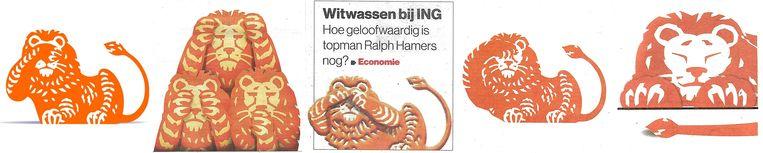 De leeuwen van ING VLNR: Follow the money, NRC, AD, VK, Trouw. Beeld null