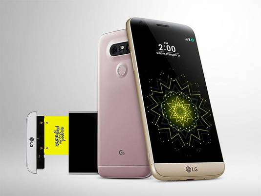 De modulaire G5 van LG kwam niet op de Japanse markt wegens niet waterdicht.